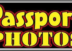 Passport Photos Sign