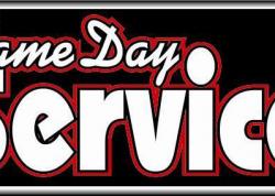 Same Day Service Sign