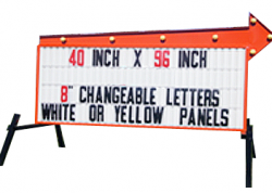 Headliner Arrow Sign