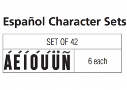 Spanish Character Sets